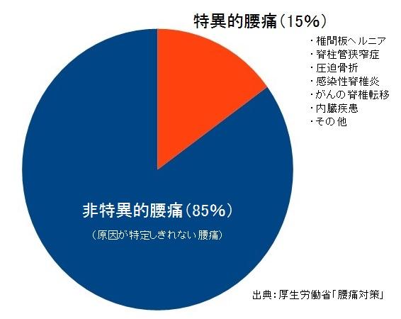 いの徳整骨院・治療院 腰痛のグラフ